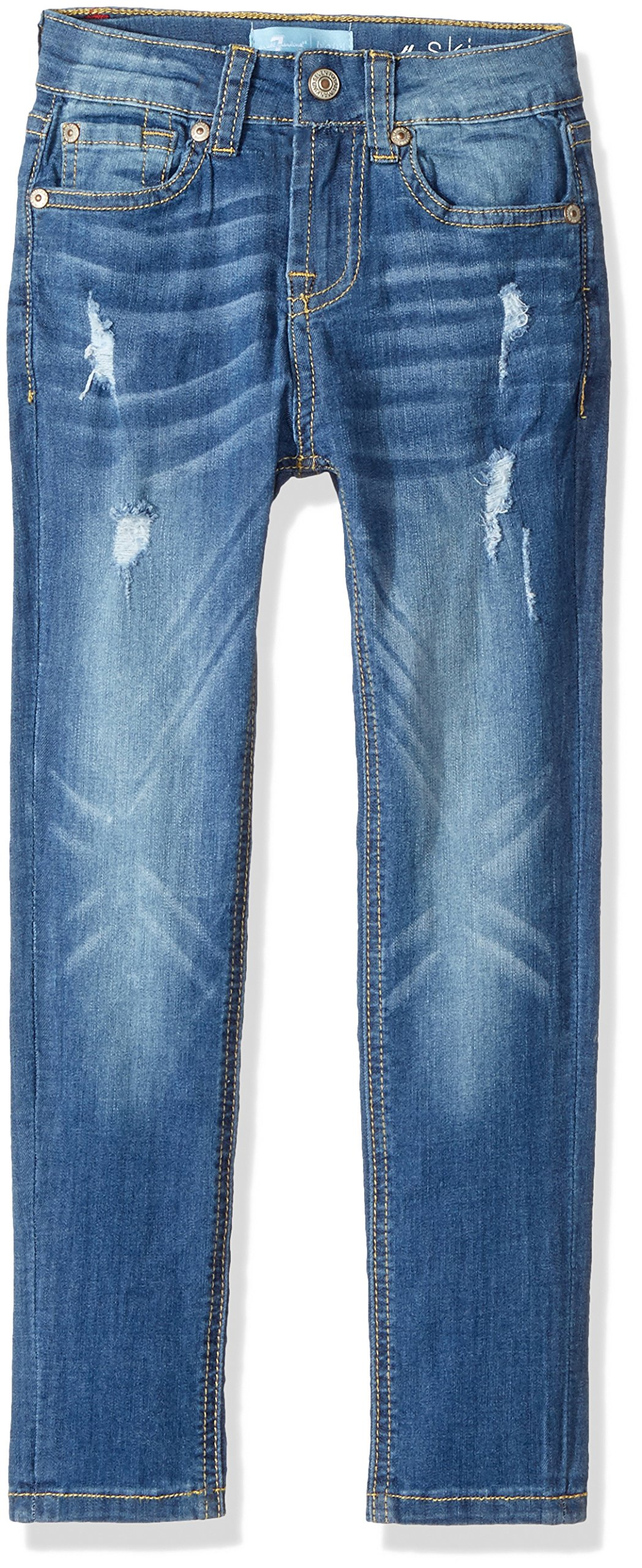 94131ff0a4171 Get Quotations · 7 For All Mankind Girls' Skinny Fit Jean (More Styles  Available)