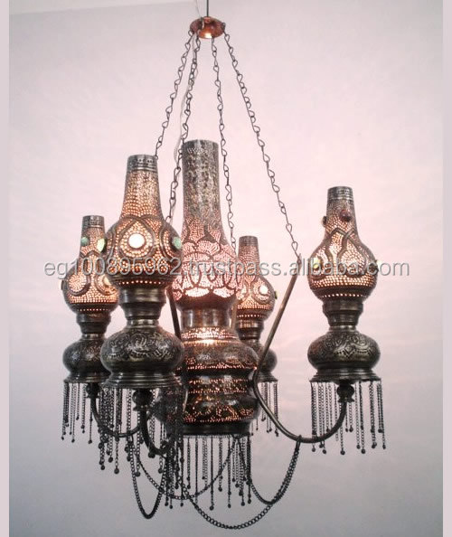 Br278 Antique Style Chandelier Pendant Light Oil Lamp Theme Reproduction Chandeliers Moroccan Br