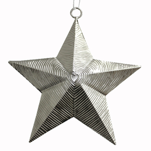 Luxury Hanging Metal Star Christmas Decor