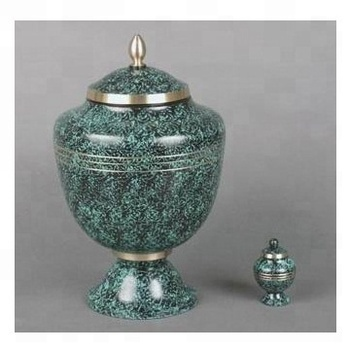 Cremation urn with color finish