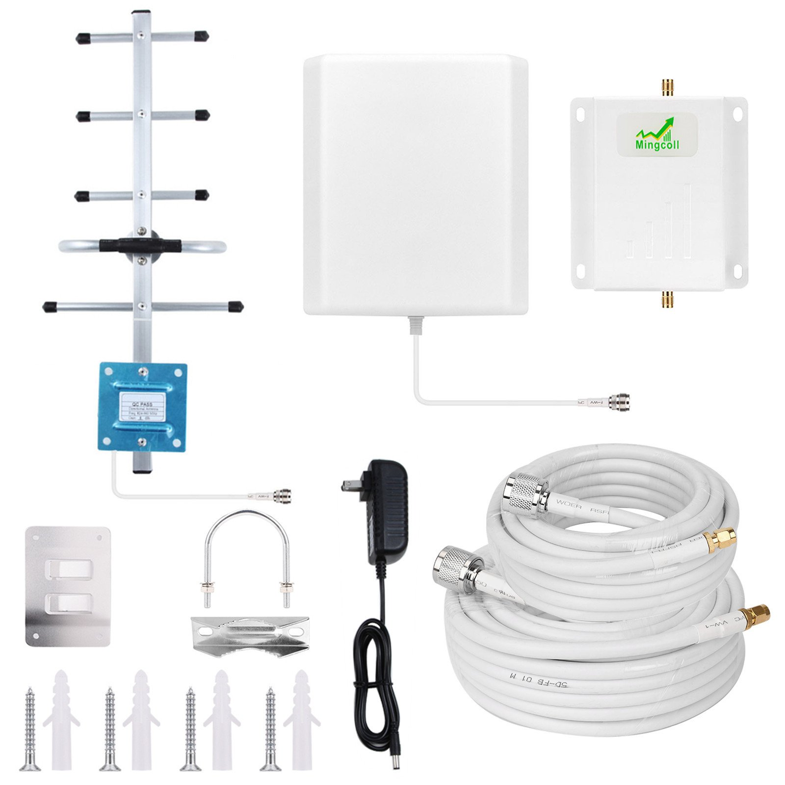 Boost GSM 3G 4G LTE Voice /& Data for Verizon AT/&T T-Mobile Mingcoll Cell Phone Signal Booster Amplifier for Home and Office Dual Band 850// 1700MHz Band 5 Band 4 Cellular Booster Repeater Kits