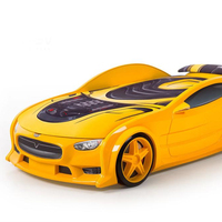 "3D race car bed for toddler boy furniture for children room ""Neo-ELECTRO"""