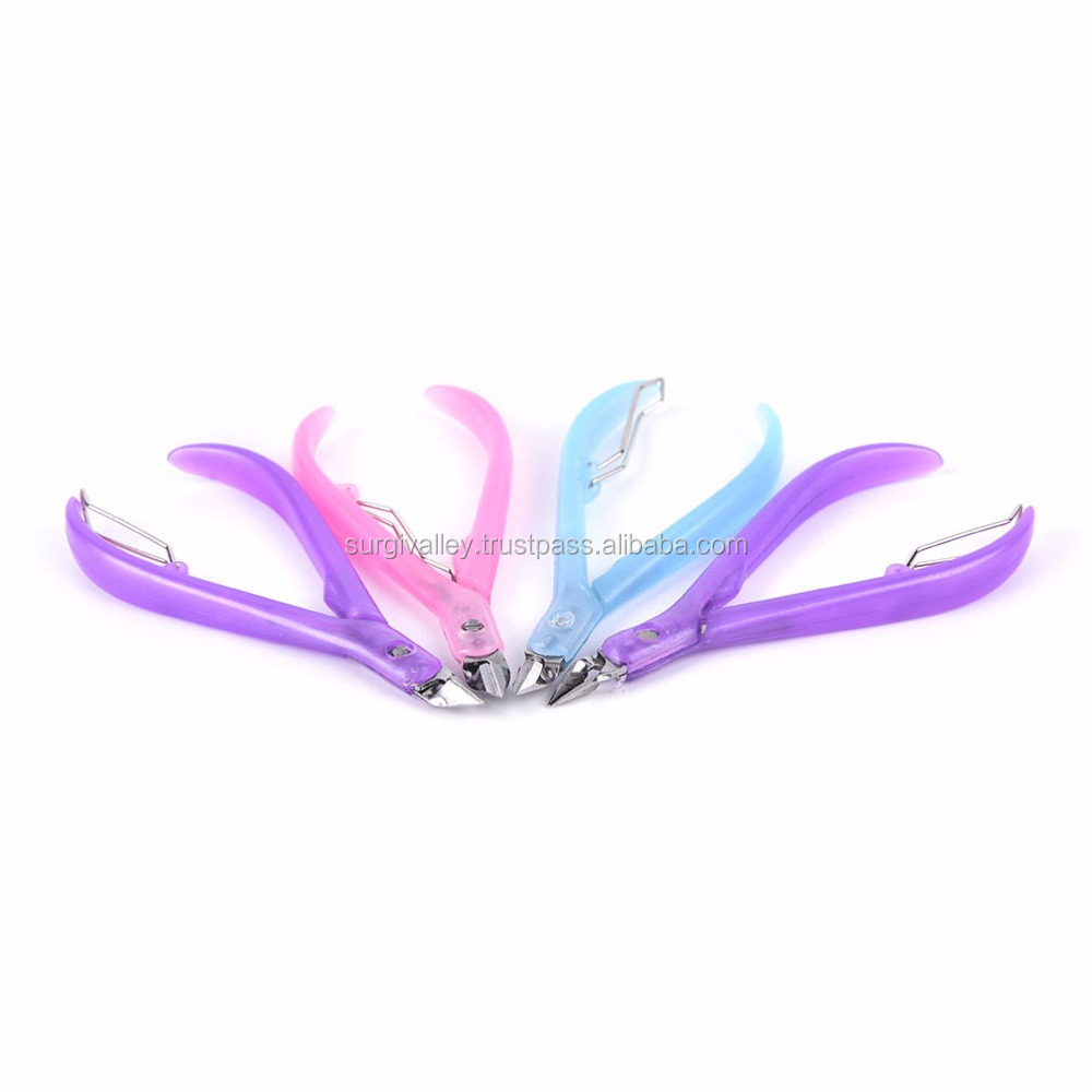 Nail scissors plastic handle cuticle cutter nippers clipper