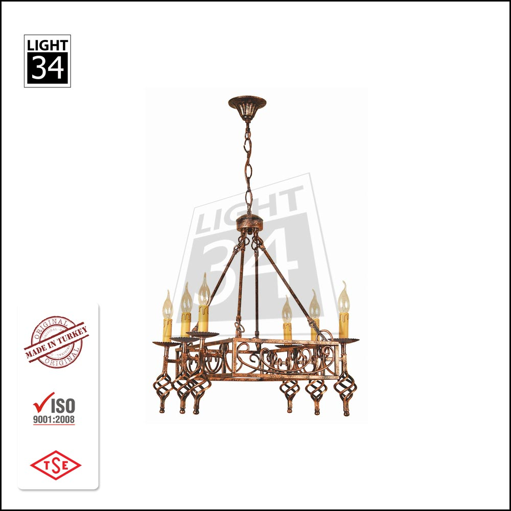 Aluminum Base Candle Shape Avize E14 Ceiling Light Home Decor