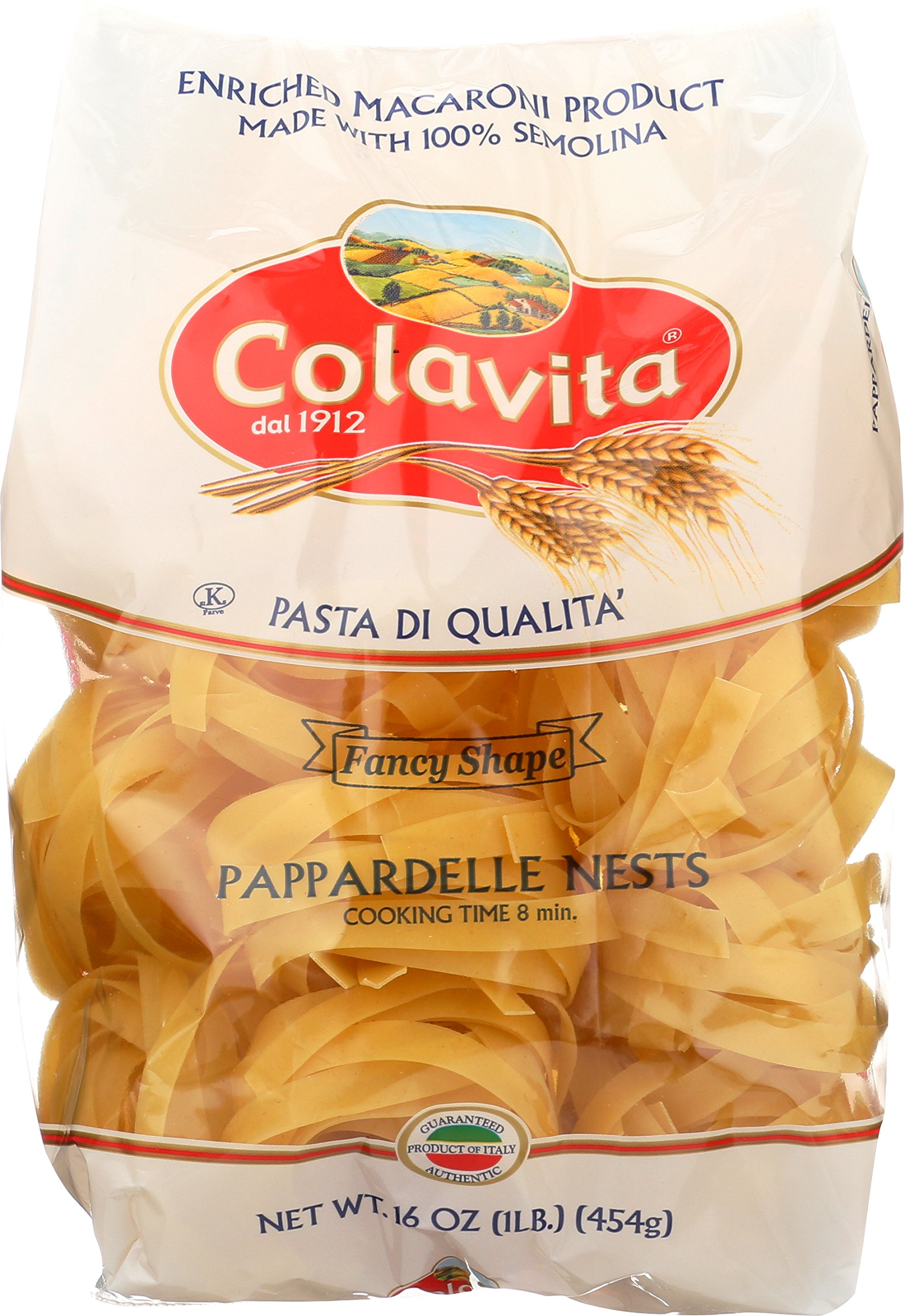 Colavita Pappardelle Nest Pasta, 1 Pound (Pack of 10)