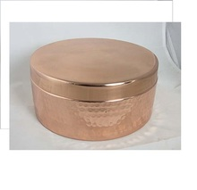 Copper Round Hammered Box