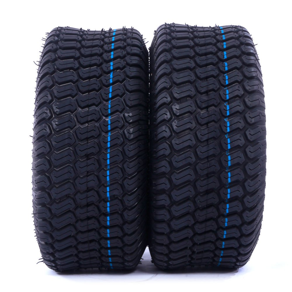 Pair Turf Tires 4 Ply Lawn Mower & Garden Tractor Tubeless Tire P332 15X6-6 15x6.00x6