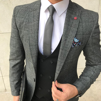 Business Slim Fit Suit Casual formal Suit Men Quality