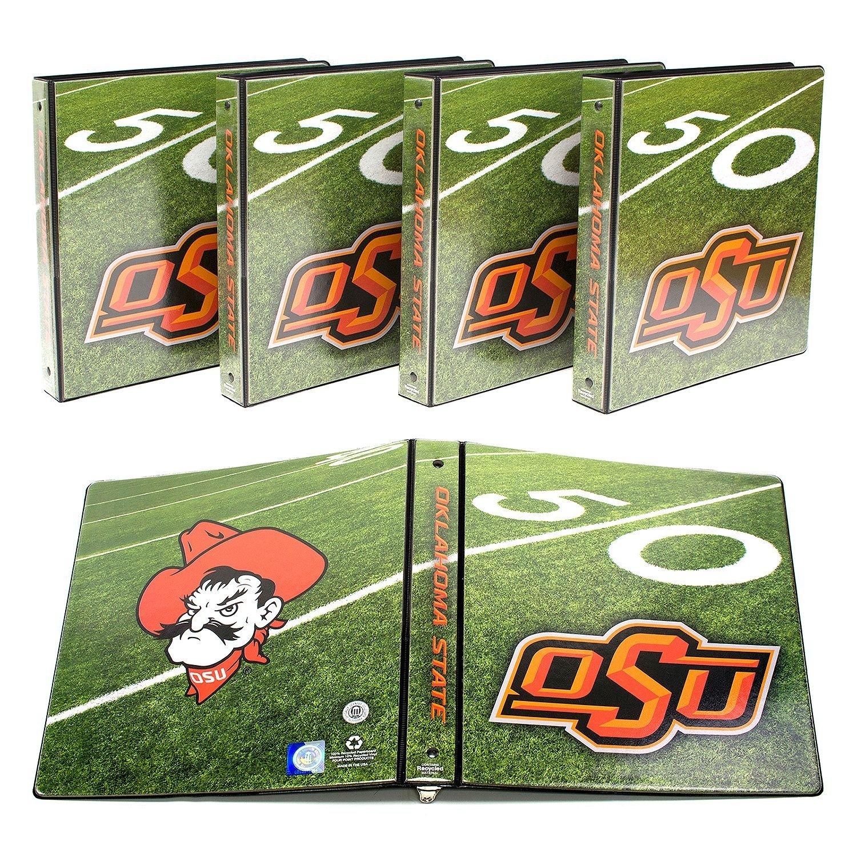 "NCAA Oklahoma OSU Cowboys 1"" College Round 3-Ring Binders, 4 pack"