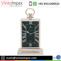 VITC 2078 Rectangle Black Dial Wall Clock