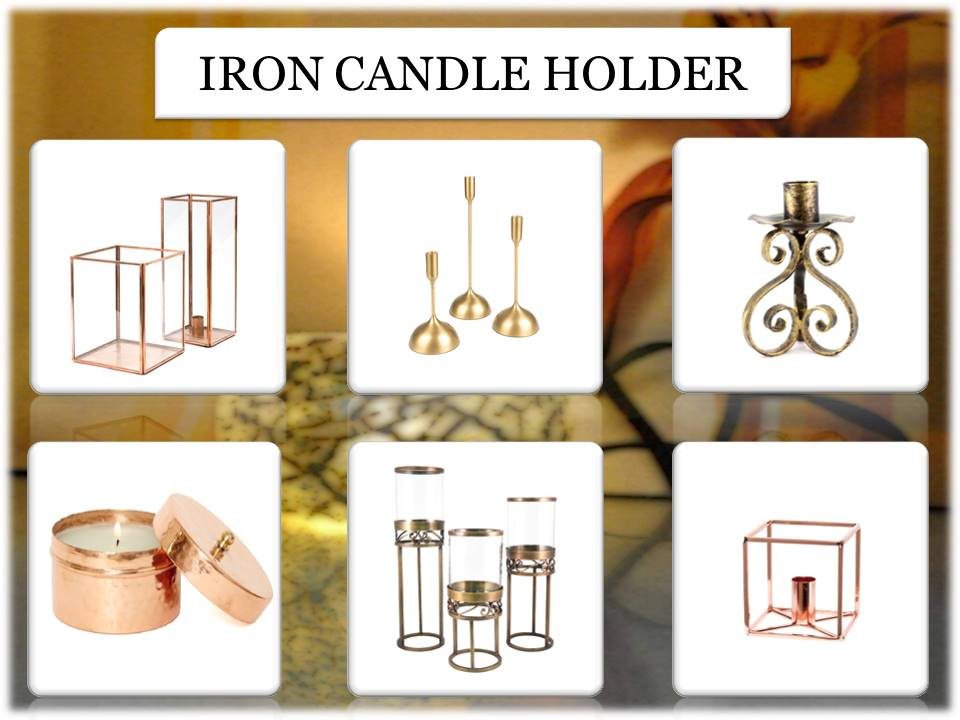 Triangle iron candle holder