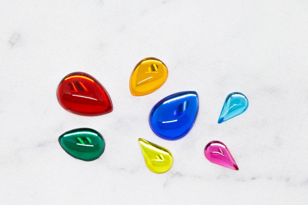 Kualitas Drop Berbentuk Berbagai Macam Ukuran 6x10mm 7x12mm 8x13mm 10x14mm 13x18mm 15x21mm 18x25mm Plastik Permata untuk Gelang Desain