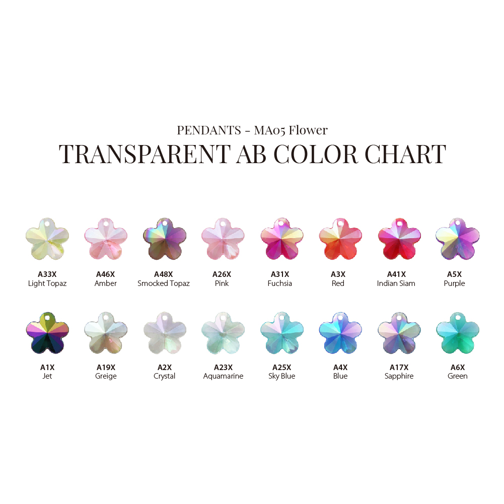 Low MOQ Hot-Selling AB Shinny Rainbow Colors 10mm 13mm Flower Pendants for Sewing or Decoration