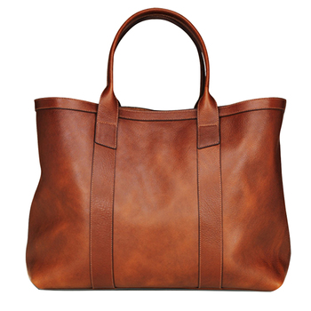 Genuine Leather Top Handle Handbag/Customized designed Cow Leather Hand Bag for Women/Brown Leather tote hand bag