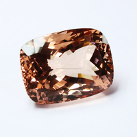 Sparking Natural Pink Morganite Gemstone Rectangle Cushion Cut Mens Ring Gemstone