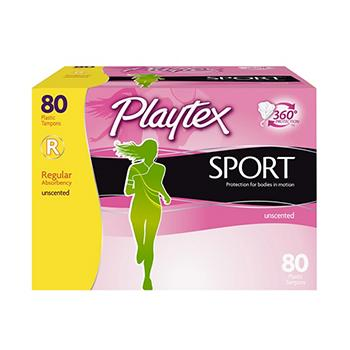 Playtex Sport Unscented Tamponi Assorbenza Regular #1 USA Signore Mestruale Igiene