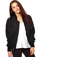 2020 New Style Women Faux Suede Bomber Jacket with Plush