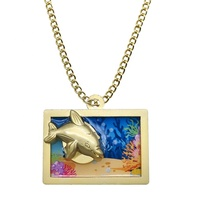 New Type Gold plated Dolphin/Rose Design Zinc Alloy Necklace