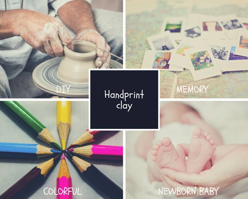 Clay Toy Products Baby Handprint Footprint Frame