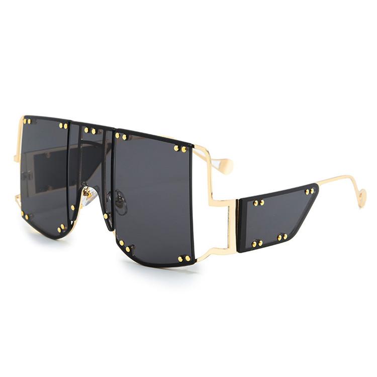 Lunettes de soleil punk de luxe pour hommes et femmes, avec design personnalisé, à la mode, collection 2020