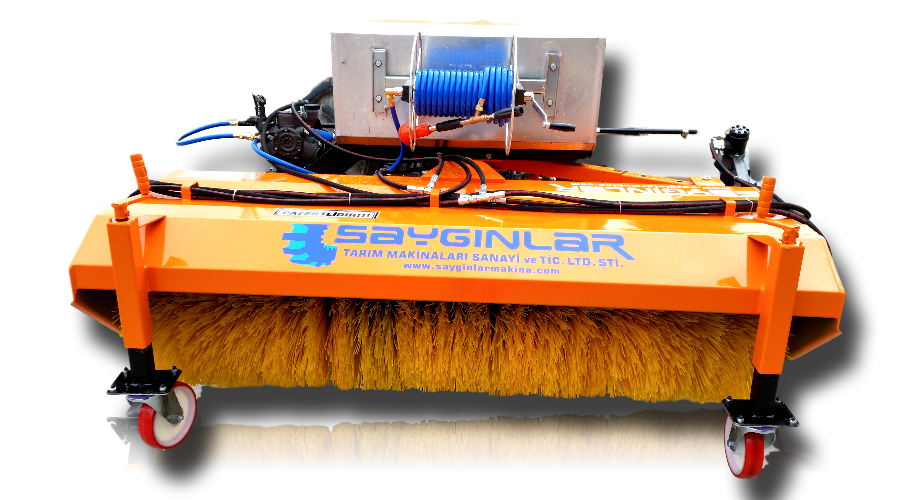 Forklift Mounted Road Sweeper With Bucket brooms and brushes