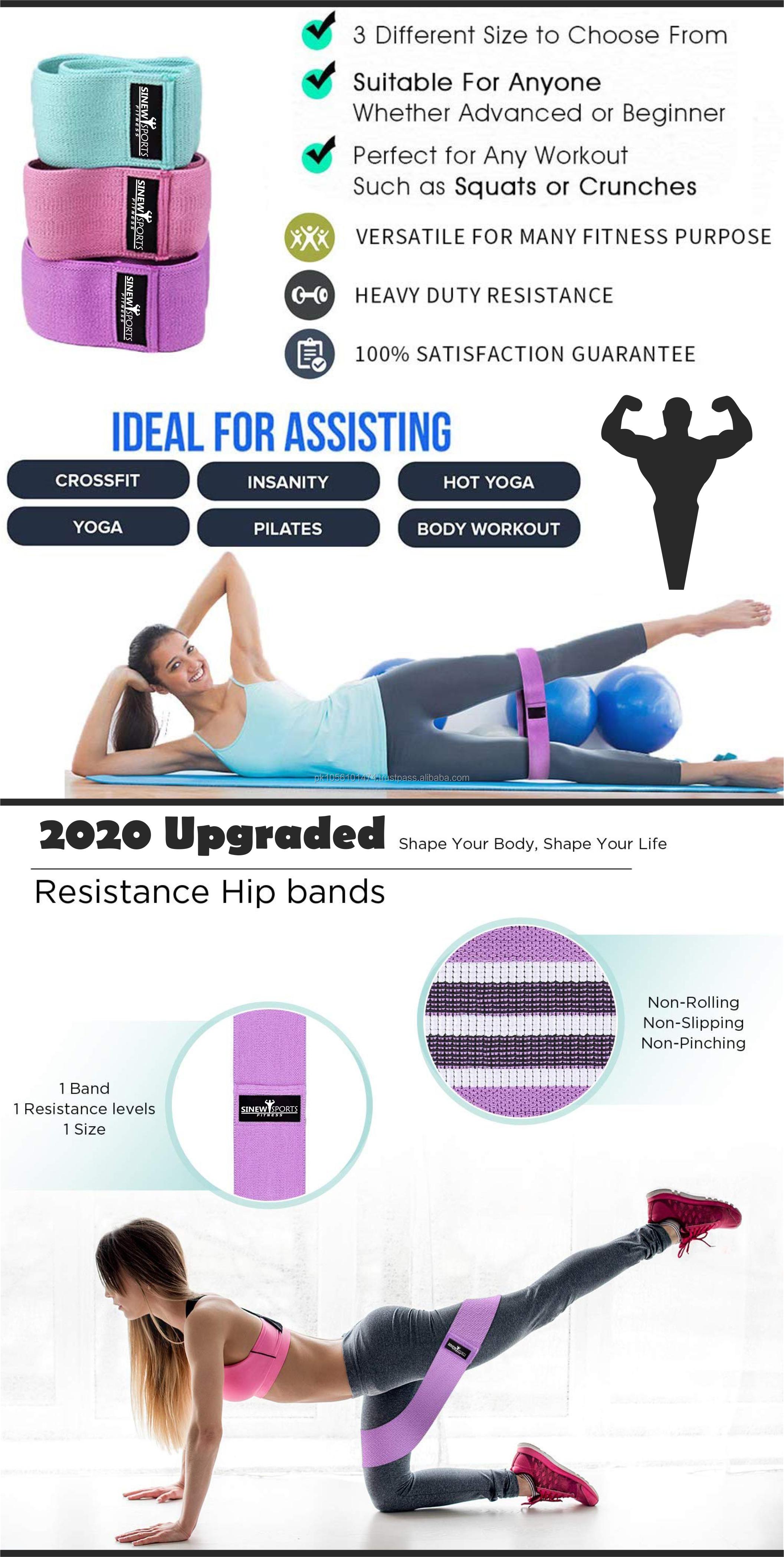 Ev özel ganimet egzersiz direnç bantları düşük orta ve ağır döngü kalça direnci daire bant Yoga Squat