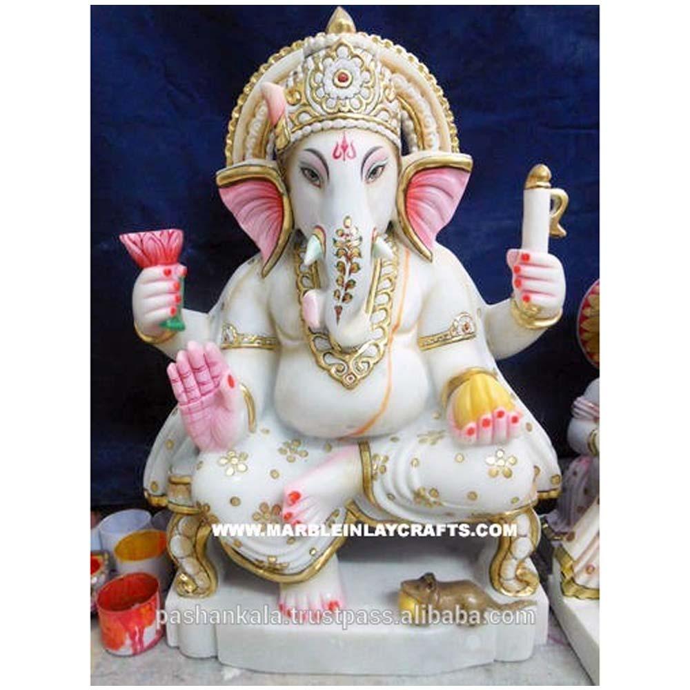 White Marble Ganesha Idols