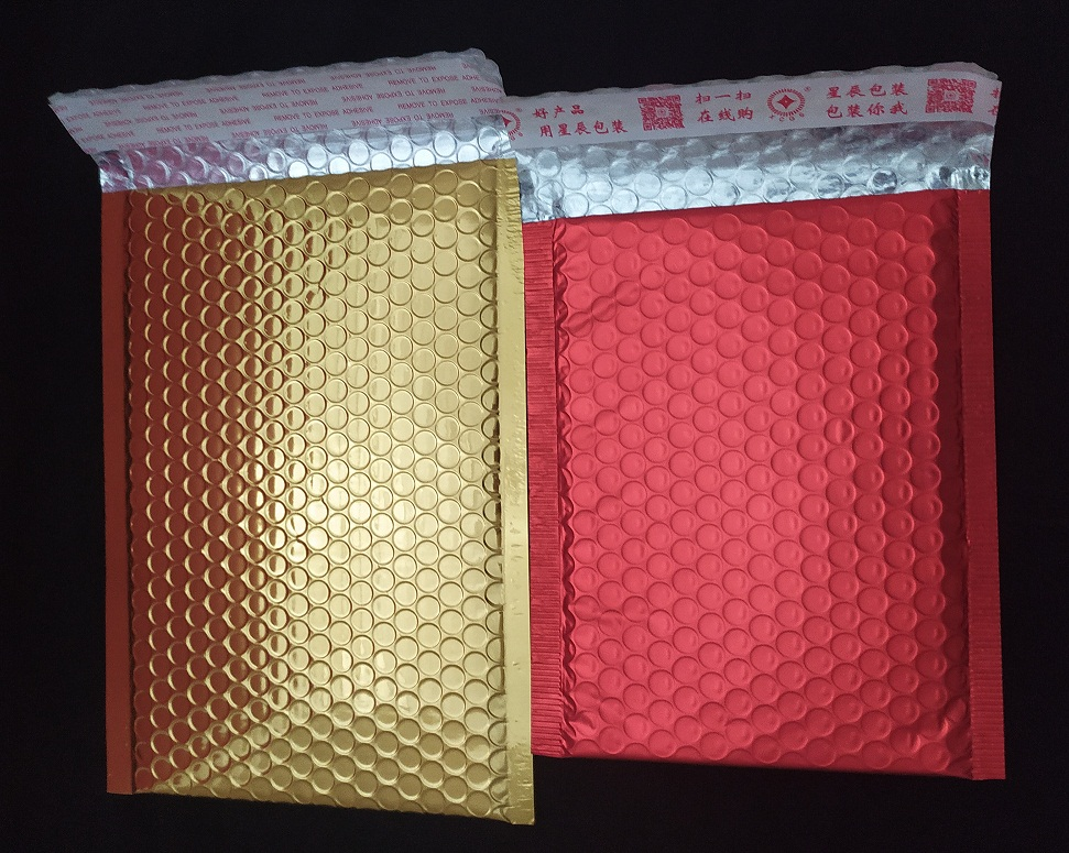 Custom colored poly bubble mailer custom padded envelopes with bubble inside