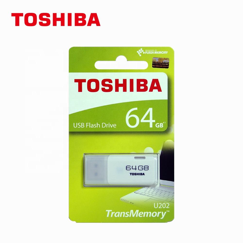 100% 원래 도매 TOSHIBA USB 플래시 드라이버 U202 U disk20pcs/상자 USB2.0 플래시 드라이브 64gb