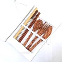 Sustainable coconut wooden cutlery customized logo - hot selling 2020 from Vietnam factory