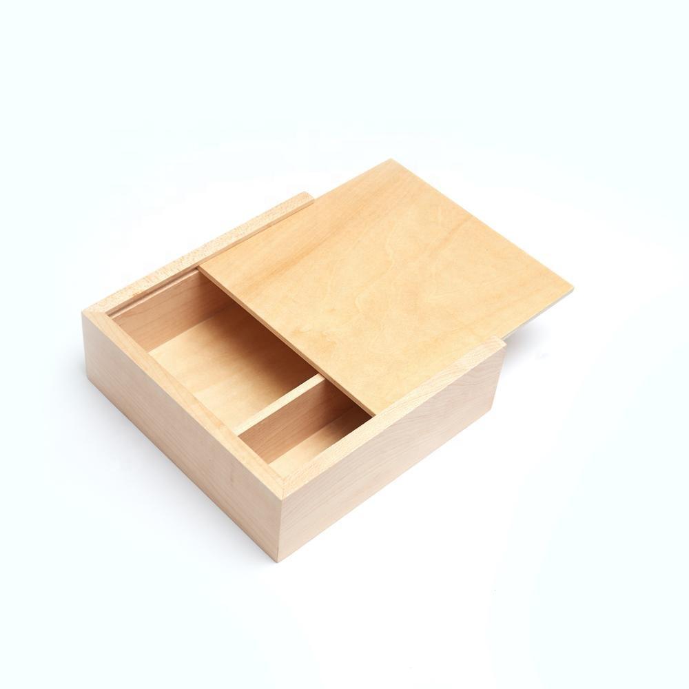 En gros En Bois Boîte Cadeau Emballage Souvenir Boîtes En Bois pour Mariage, Anniversaire, Stocker Des Images et USB Mémoire