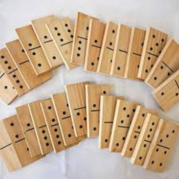Domino Game Set Wooden Made Domino Game Set For Outdoor indoor Game Set With Customize Size Design and Colored