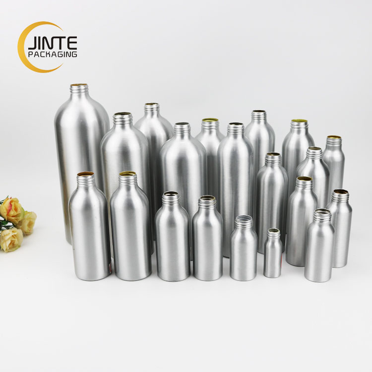 Cosmetic packaging 150ml 250ml 300ml 400ml 500ml 600ml 1000ml Aluminum Bottle with screw top to twist off