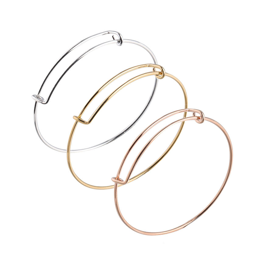 Stainless Steel 1.6MM Bracelet Bangles For Women Adjustable Wire Bangle Alex Wire Expandable Charm Bracelet for Jewelry Making