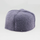 Grid square design knitted hat Muslim prayer embroidery hat for Omani cap