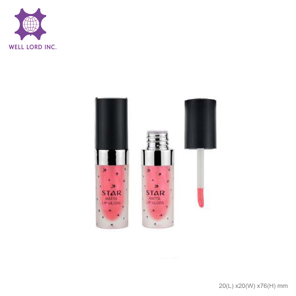 Delicate high pigment long lasting waterproof wholesale lipstick mini lip gloss tube