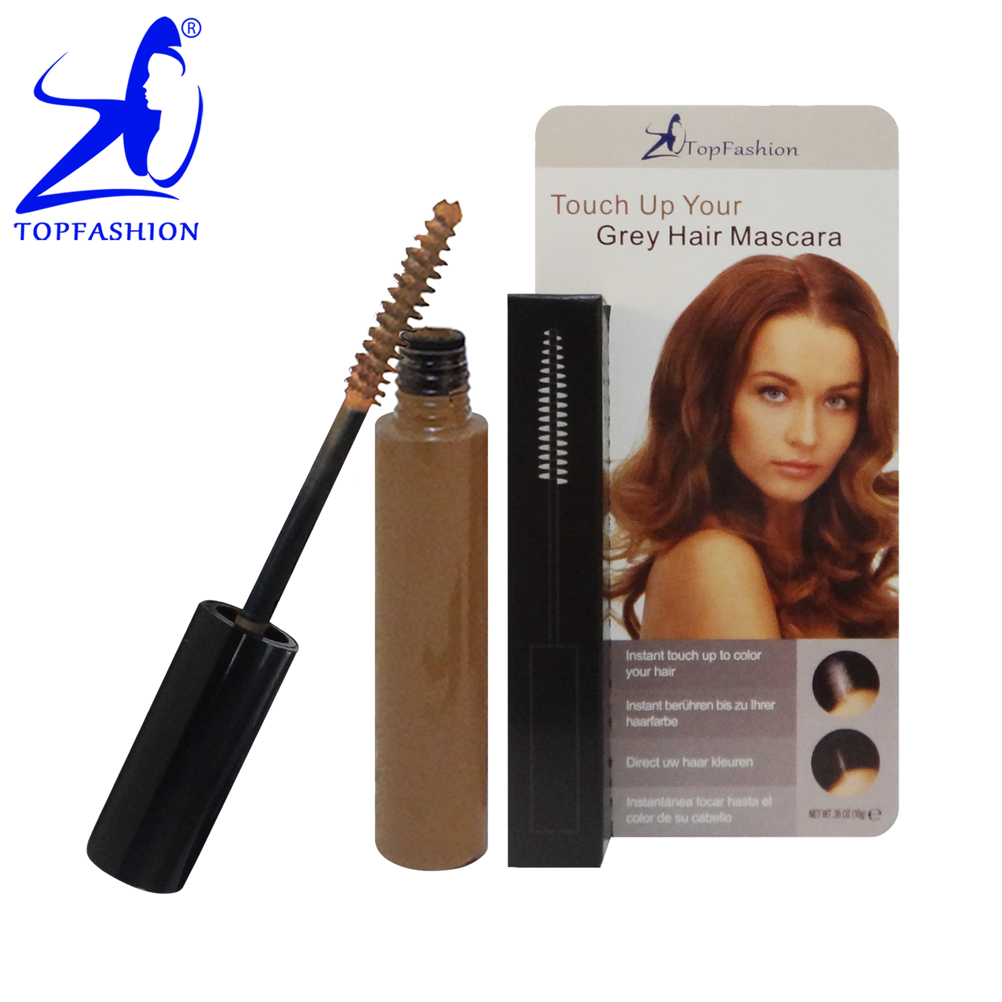 New Arrival Card Box Packing <strong>Light</strong> <strong>Brown</strong> <strong>Color</strong> Professional Temporary Cover Grey <strong>Hair</strong> Mascara