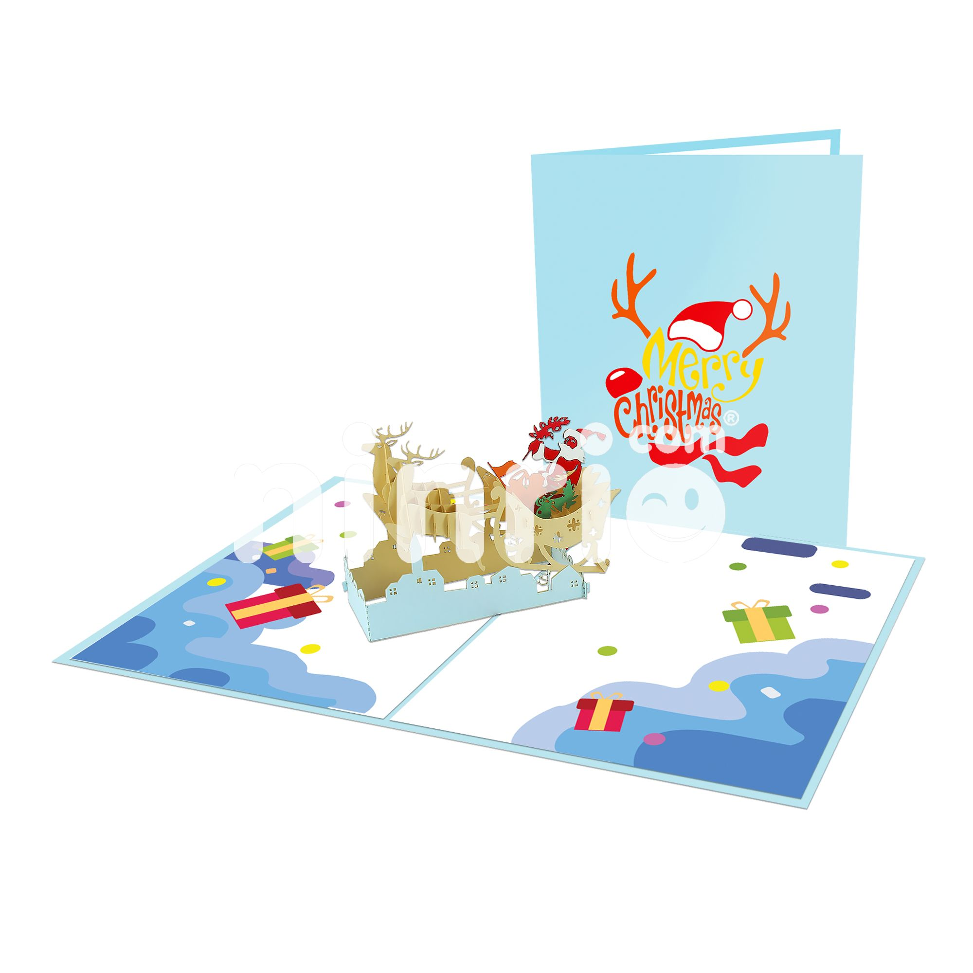 3D Pop Up 17 Temporada Gift Card Cartão do Aniversário Do Natal de Papai Noel