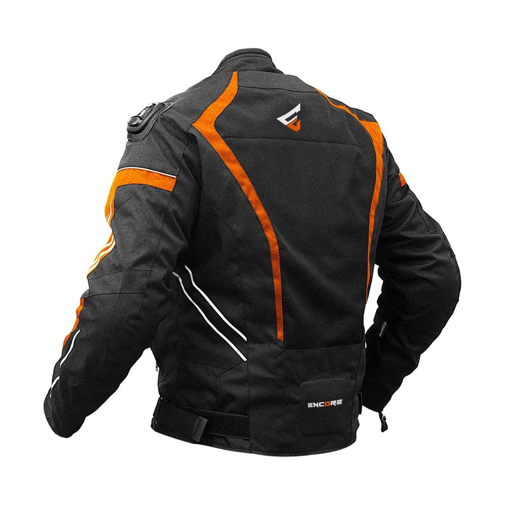 LATEST DESIGNED WATERPROOF & BREATHABLE 3/4 MOTORBIKE MEN JACKETS WITH OUTER SHOULDER CE APPROVED PROTECTORS