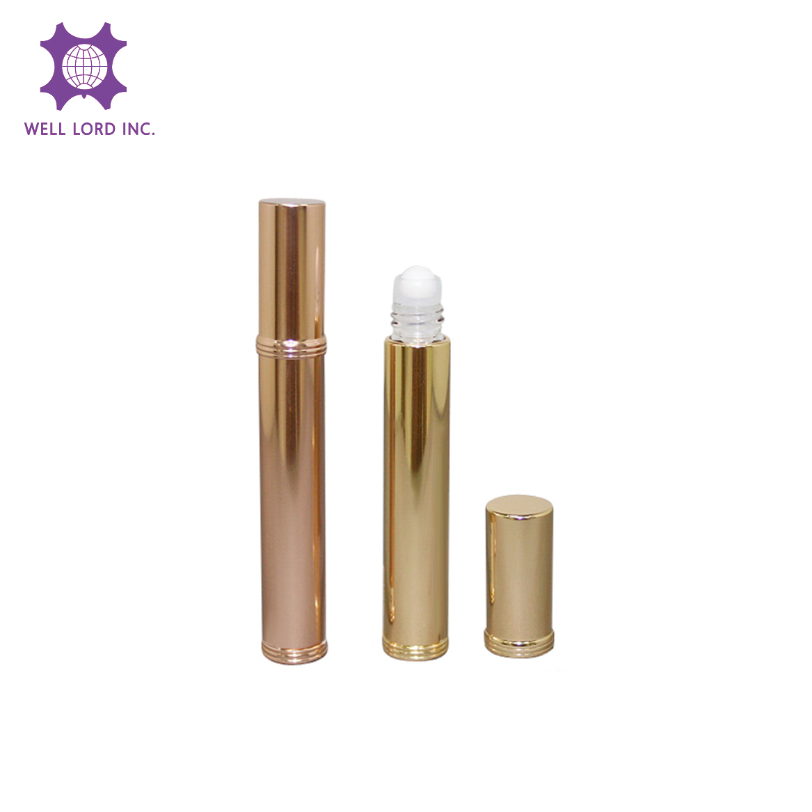 Hot designed refillable silver essential oil  roll on body care perfume roll on bottle