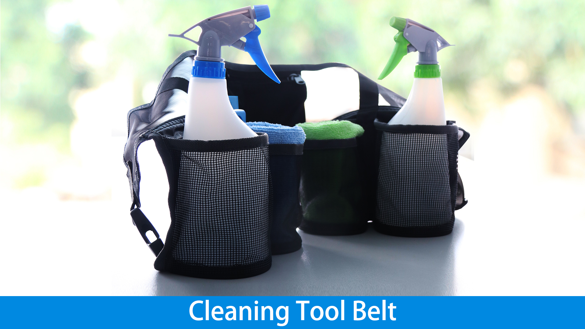 맞춤형 최고 품질의 폴리 에스터 착용 증거 휴대용 85x20cm 4 파우치 청소 도구 벨트