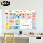 Educational Wall Sticker Kids Calendar With TPE Stickers