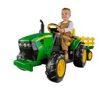 Brand New Original Peg-Perego John Deere Ground Force Tractor with Trailer