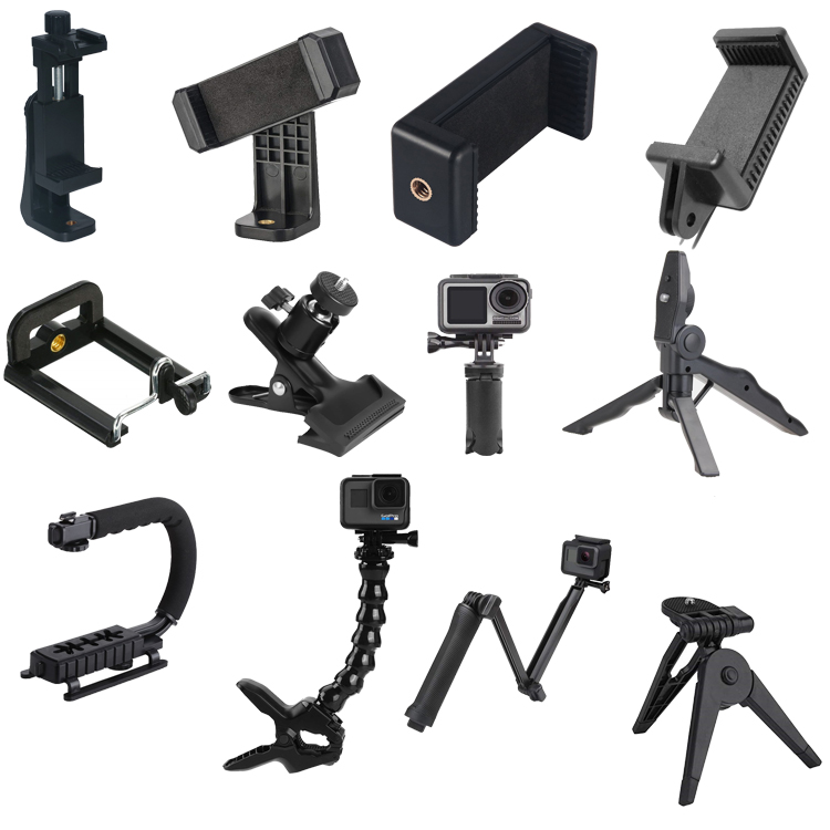 Portable Rotasi ABS Mini Desktop Menangani Stabilizer Tripod Untuk GoPro Action Camera