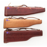 high quality canvas hunting riffle case gun custom shotgun soft case gun slip bag genuine cow hide leather gun case hard