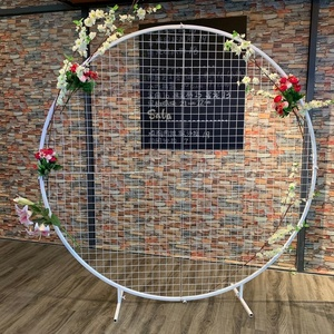 Naxilai Round metal frame Floral decoration metal frame wedding stage  decoration wedding backdrop mesh screen