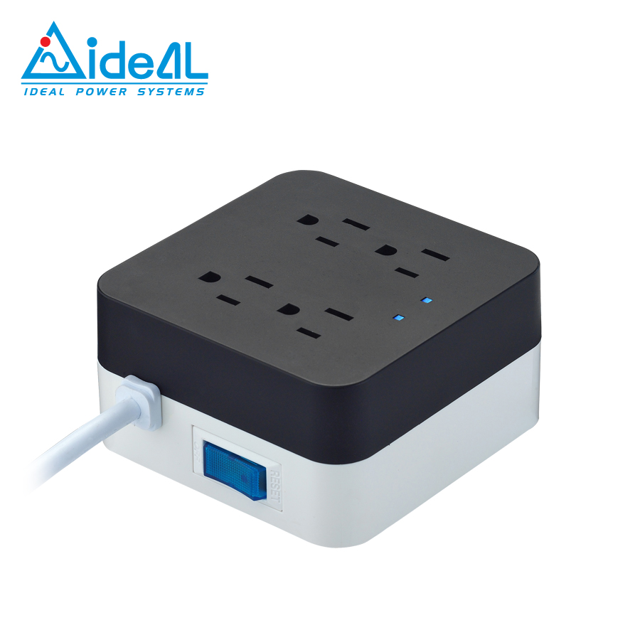 Smart power strip with USB charging Cube surge protector