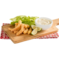 Vegetarian fried shrimp with soy protein for vegan seafood