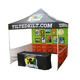 custom printed logo event 10' x 10' pop up tent