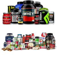 Whey protein of all brands Pre Workout, Post Workout, BCAA, Amino energy all gym supplements
